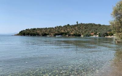 Sea front land plot of 14.255m2 in Kalamos