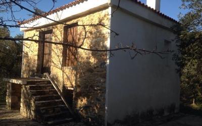 Παραδοσιακό πέτρινο καλύβι στις Κριθαριές