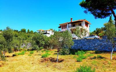 Spacious villa with panoramic sea view in Lafkos